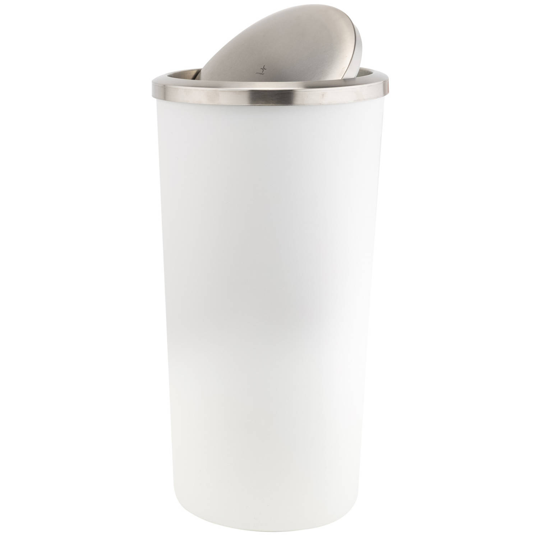 Vuilnisbak/vuilnisemmer Wit 35 Liter 56 Cm Kunststof - Afvalemmers - Prullenbakken