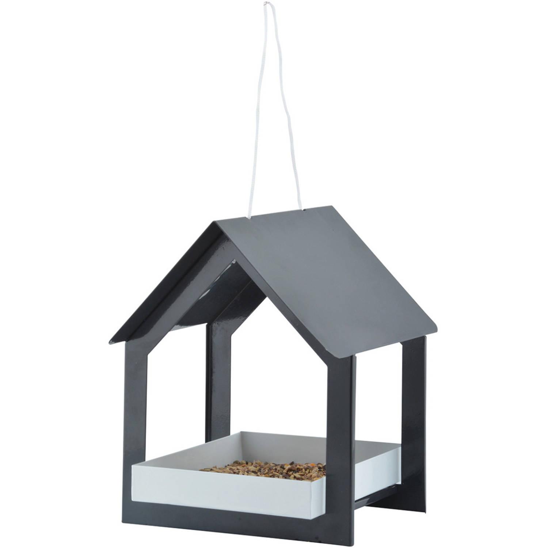 Best For Birds Metalen Vogelhuisje/voedertafel Hangend Antraciet 23 Cm Vogelhuisjes online kopen