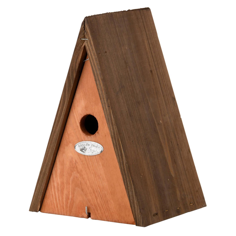 Best For Birds Houten Vogelhuisje/nestkast Wigwam Bruin 27 Cm Vogelnestje Voor Tuinvogeltjes online kopen