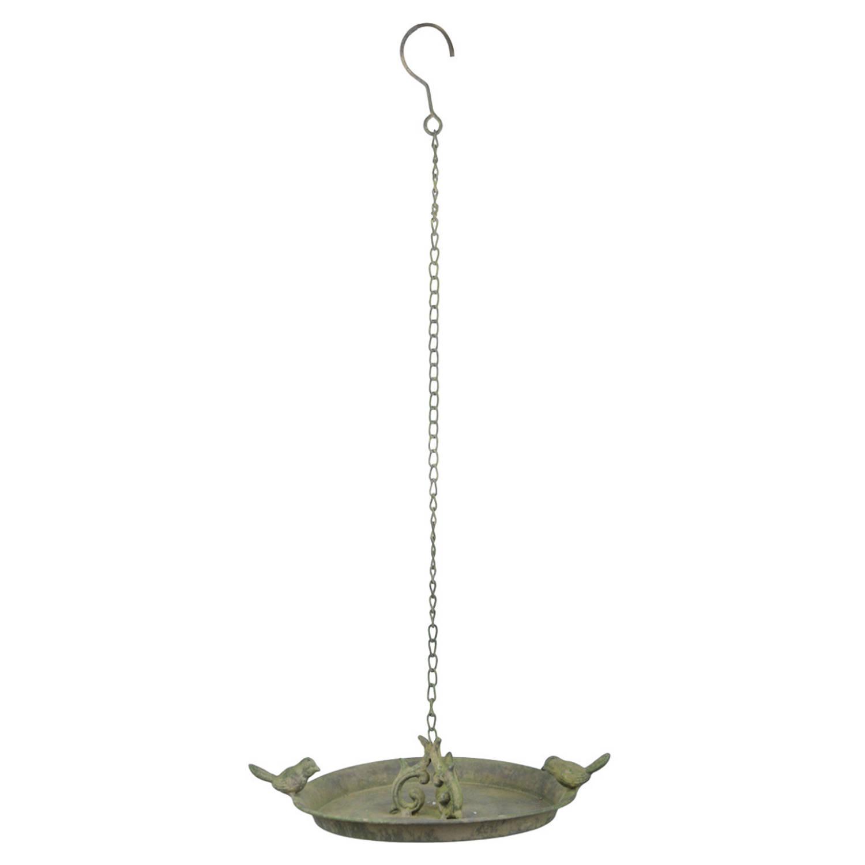 Vogelbad/voederschaal Hangend Metaal 24 Cm Vogeldrinkschaal/voederbak online kopen