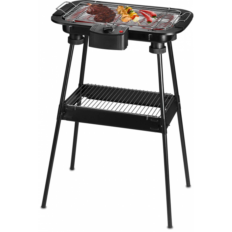 Techwood Elektrische Barbecue Op Statief - Tafelbarbecue 2-in-1