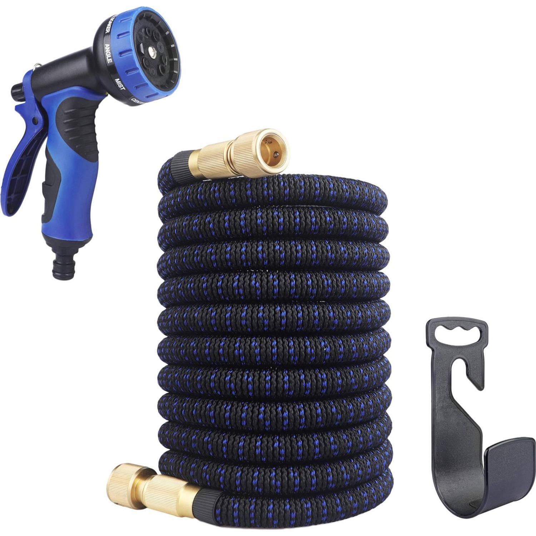 Brauch Flexibele Tuinslang - Blauw/zwart - 15 Meter