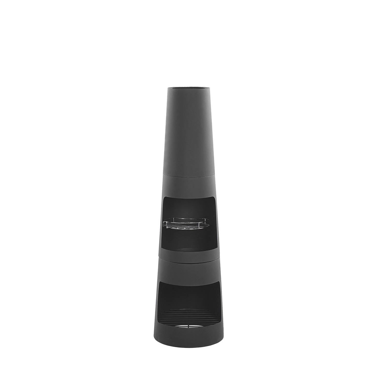 Beliani Tromen - Vuurkorf-zwart-staal