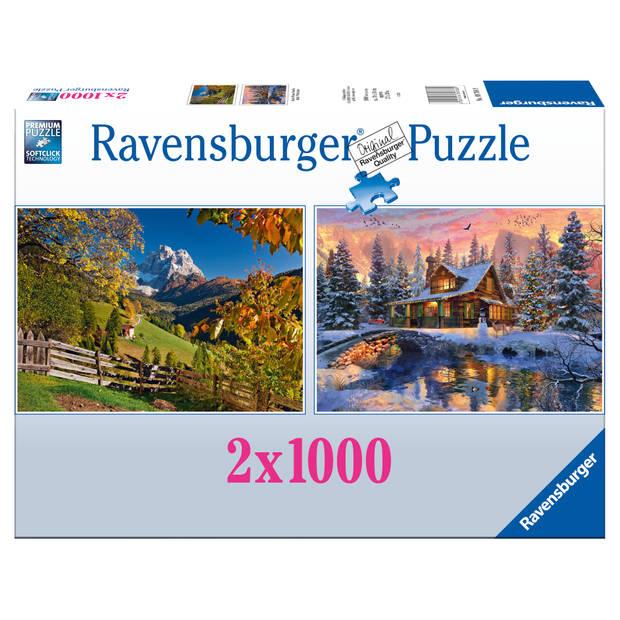 Ravensburger puzzel 2-in-1 - 2 x 1000 stukjes