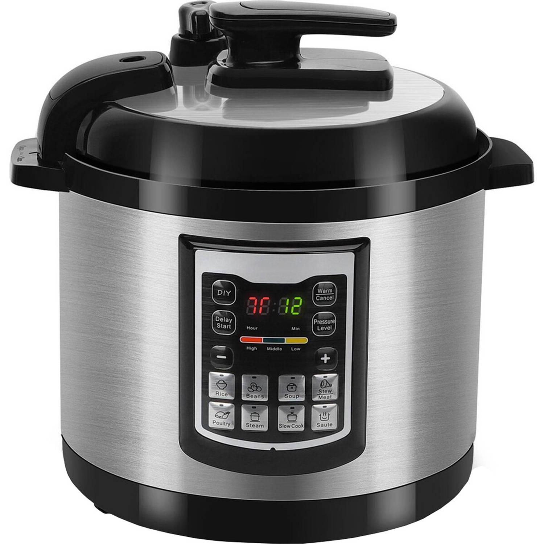 BES LED Multicooker Aigi Miani Timer 6 Liter Zwart/zilver online kopen