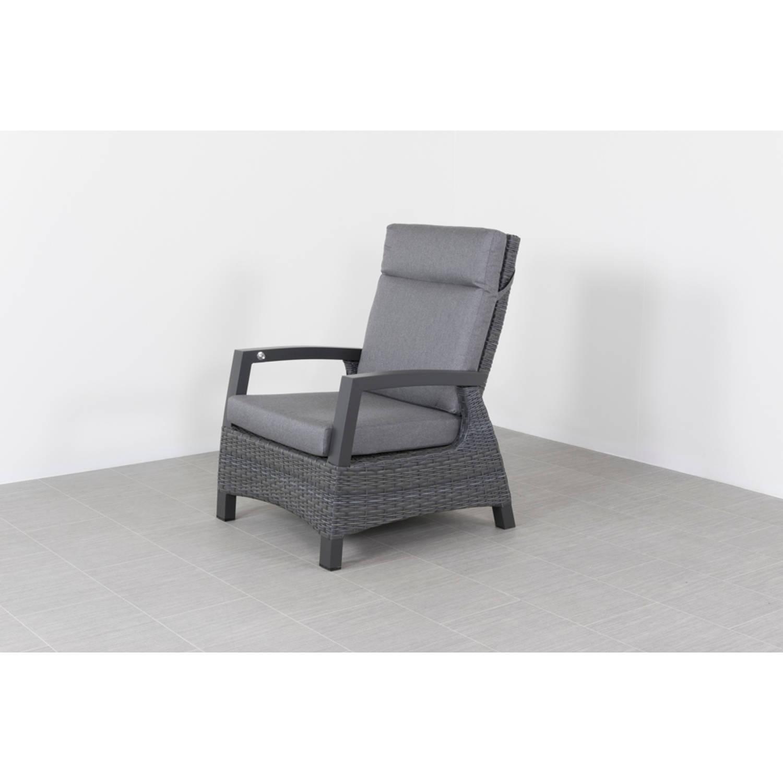 Darwin Wicker Verstelbare Loungestoel - Antraciet