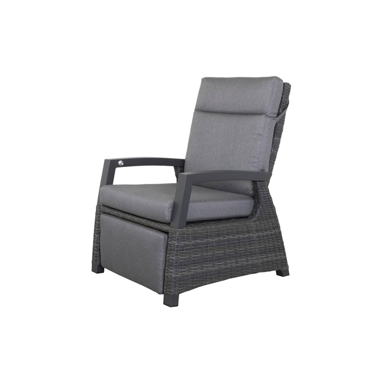 Verstelbare Loungestoel Met Voetensteun - Darwin - Antraciet