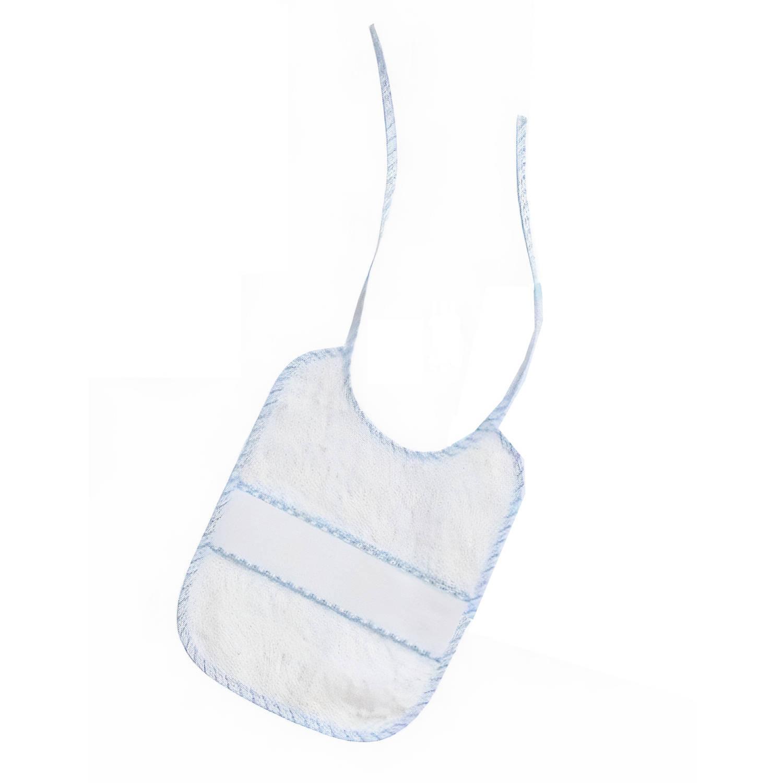 Korting Interbaby Slabbetje Junior 25 X 30 Cm Katoen Wit blauw
