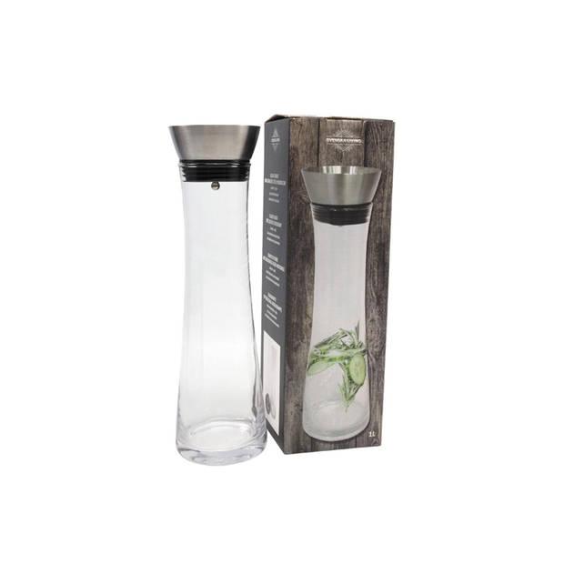 Svenska Living glazen waterkaraf 1L - Vaatwasserbestendig - Anti lek dop