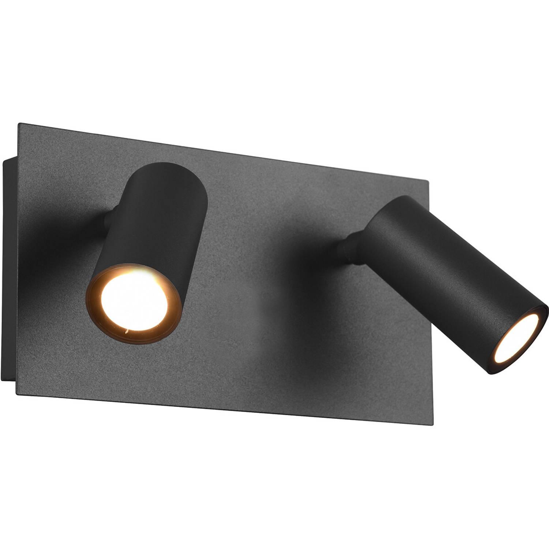 Led Tuinverlichting - Wandlamp Buitenlamp - Trion Sonei - 6w - Warm Wit 3000k - 2-lichts - Rechthoek