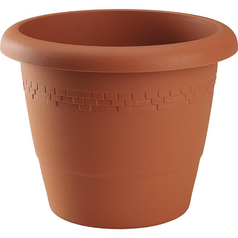 Bloempot/plantenpot Terra Cotta Kunststof Diameter 35 Cm - Plantenpotten