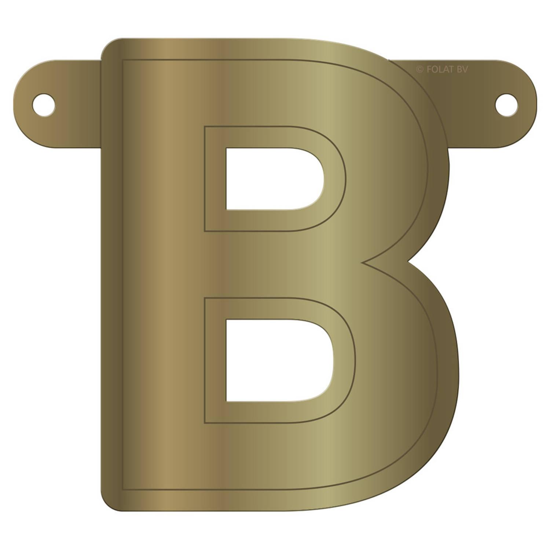 Korting Folat Slingerletter B 12,5 X 11 Cm Karton Goud