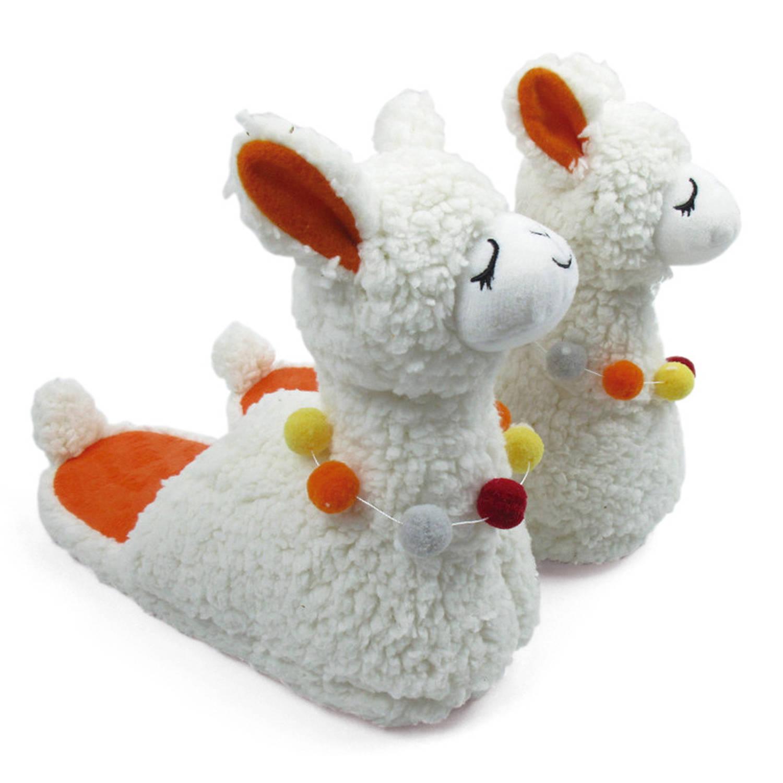 Arditex Sloffen Llama Pluche Junior Wit/oranje/geel Maat 27 online kopen