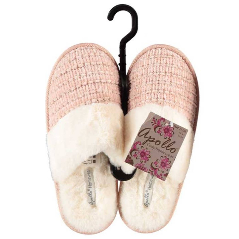 Apollo Sloffen Dames Textiel/elastomeer Wit/roze Maat 37-38 online kopen