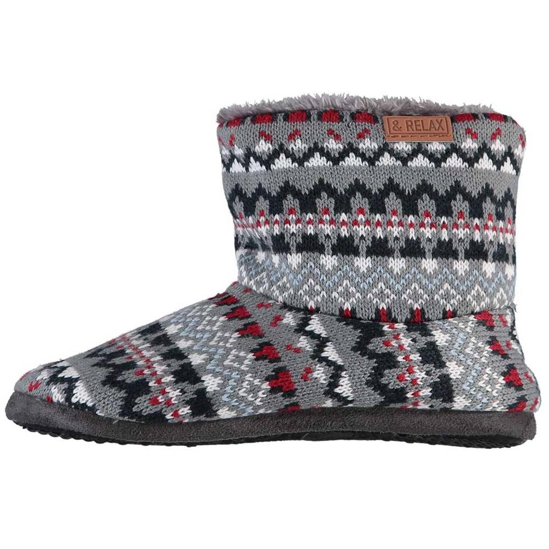 Apollo Sloffen & Relax Heren Textiel/tpr Grijs/rood Maat 37-38 online kopen
