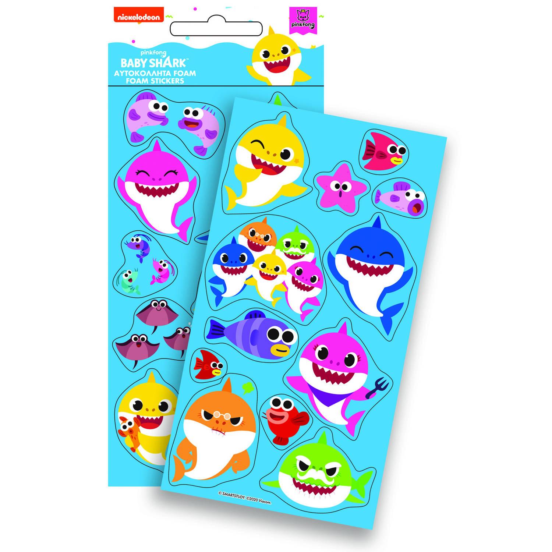 Korting Pinkfong Stickers Baby Shark 10 X 21 Cm Junior Foam