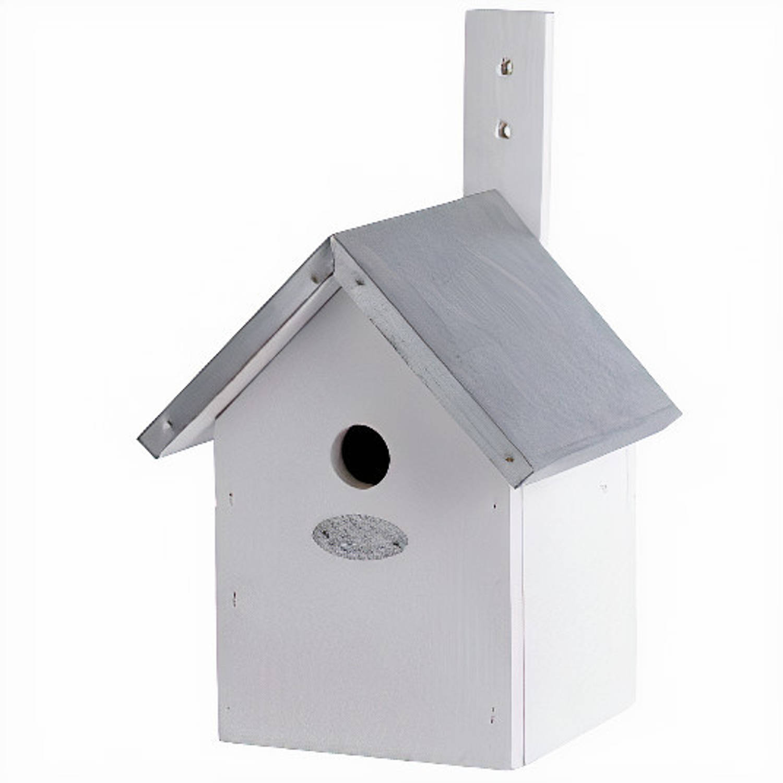 Esschert Design Nestkast Pimpelmees 19 X 31 Cm Hout Wit online kopen
