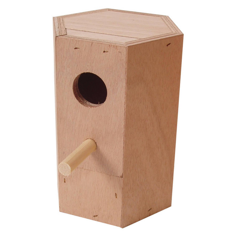TOM Nestkast Exoten 18 X 10,5 Cm Hout Naturel online kopen