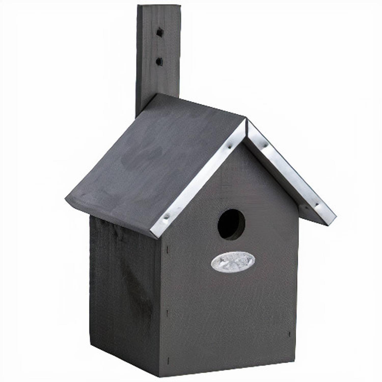 Esschert Design Nestkast Pimpelmees 19 X 31 Cm Hout Grijs online kopen