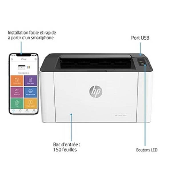 HP Laser 107a monochrome laserprinter met één functie