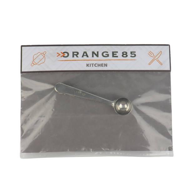 Orange85 Koffie Maatschepje - met Klem - RVS - 16 cm