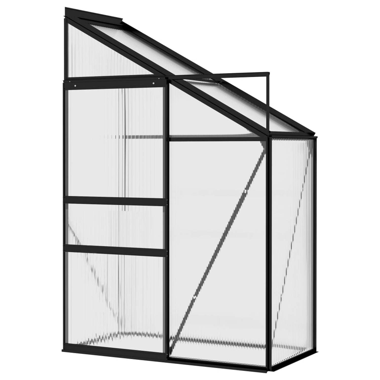 Vidaxl Broeikas 1,38 M² Aluminium Antracietkleurig