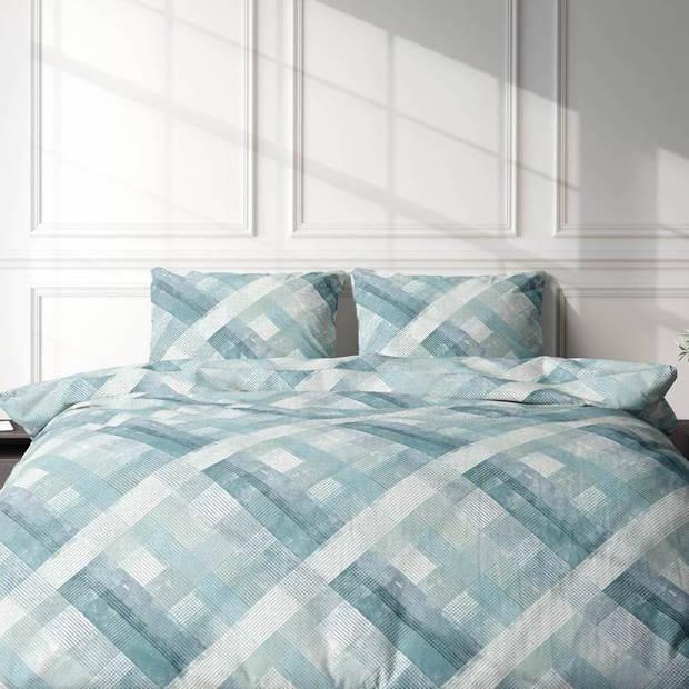 Romanette Fratelli dekbedovertrek - 2-persoons (200x200/220 cm + 2 slopen) - Katoen - Blue