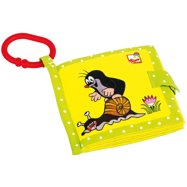 Bino Babyboekje Little Mole Junior 13 Cm Polyester Geel-groen