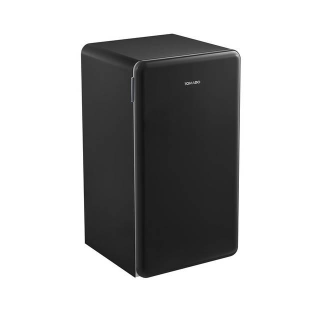 Tomado TRT4701B - Retro tafelmodel koelkast - 93 liter - 2 draagplateaus - zwart