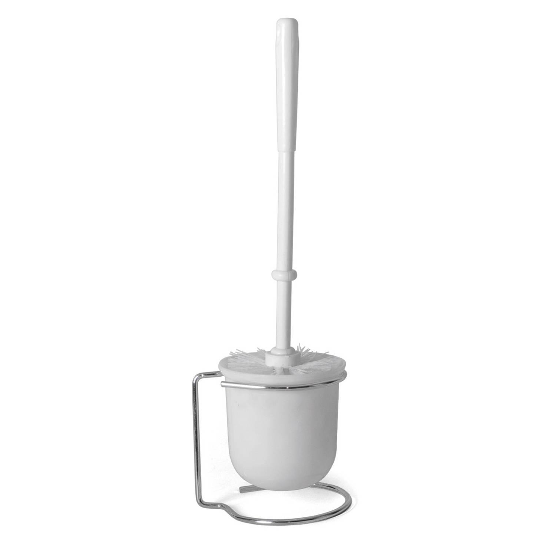 Korting Wc toiletborstel Met Houder Wit Van Rvs kunststof Toilet badkameraccessoires Wc borstel