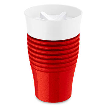 Korting Herbruikbare Koffiebeker, 0.4 L, Organic Rood Koziol Safe To Go