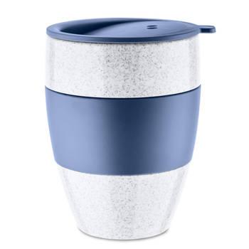 Korting Herbruikbare Koffiebeker Met Deksel, 0.4 L, Organic Blauw Koziol Aroma To Go