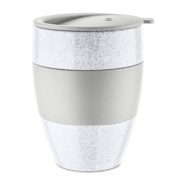 Korting Herbruikbare Koffiebeker Met Deksel, 0.4 L, Organic Grijs Koziol Aroma To Go