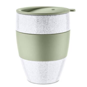 Korting Herbruikbare Koffiebeker Met Deksel, 0.4 L, Organic Groen Koziol Aroma To Go
