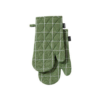 Korting Ovenwant, Set Van 2, Groen Ladelle Eco Check