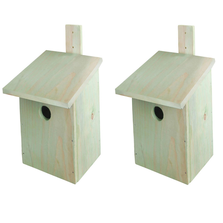 Best For Birds 2x Stuks Doe-het-zelf Houten Vogelhuisjes/nestkasten 23 Cm Vogelhuisjes online kopen