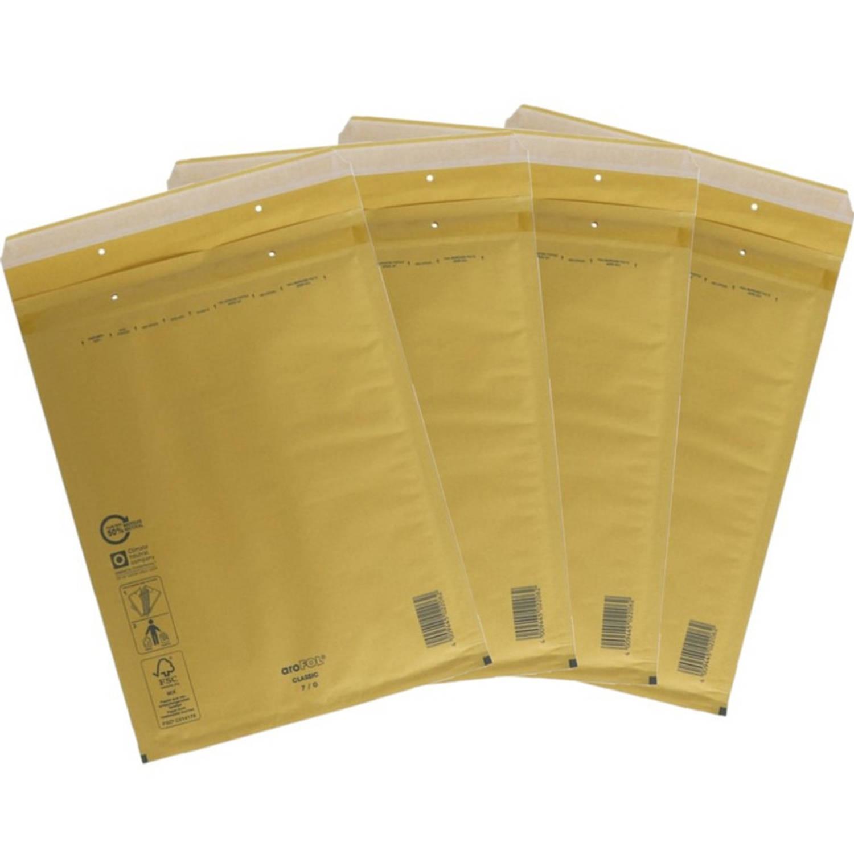 Korting 10x Stuks Bubbel luchtkussen Enveloppen Bruin 22 X 26 Cm Bubbeltjes Enveloppen