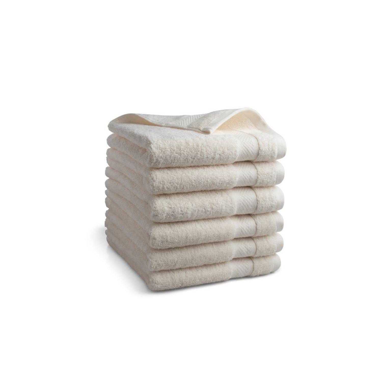 Korting Seashell Clásico Handdoekset Crème 9 Stuks 50x100cm