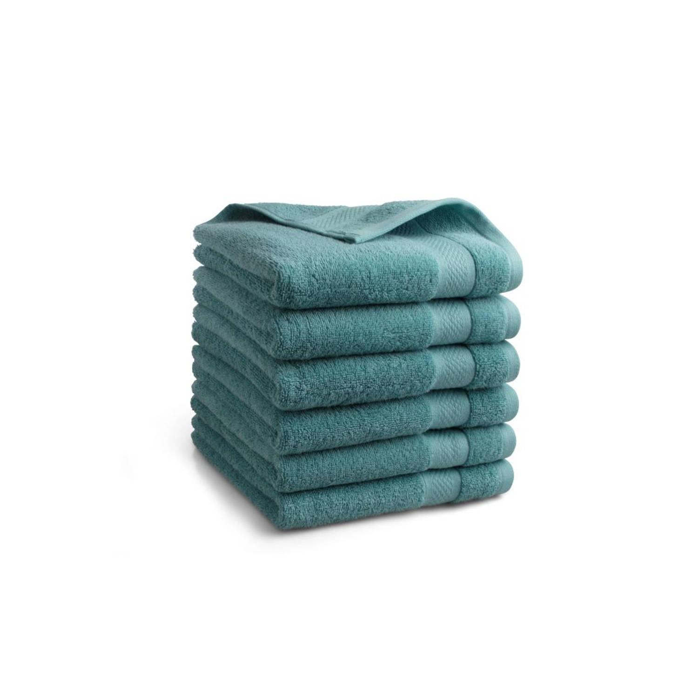 Korting Seashell Clásico Handdoekset Jeans Blauw 9 Stuks 50x100cm