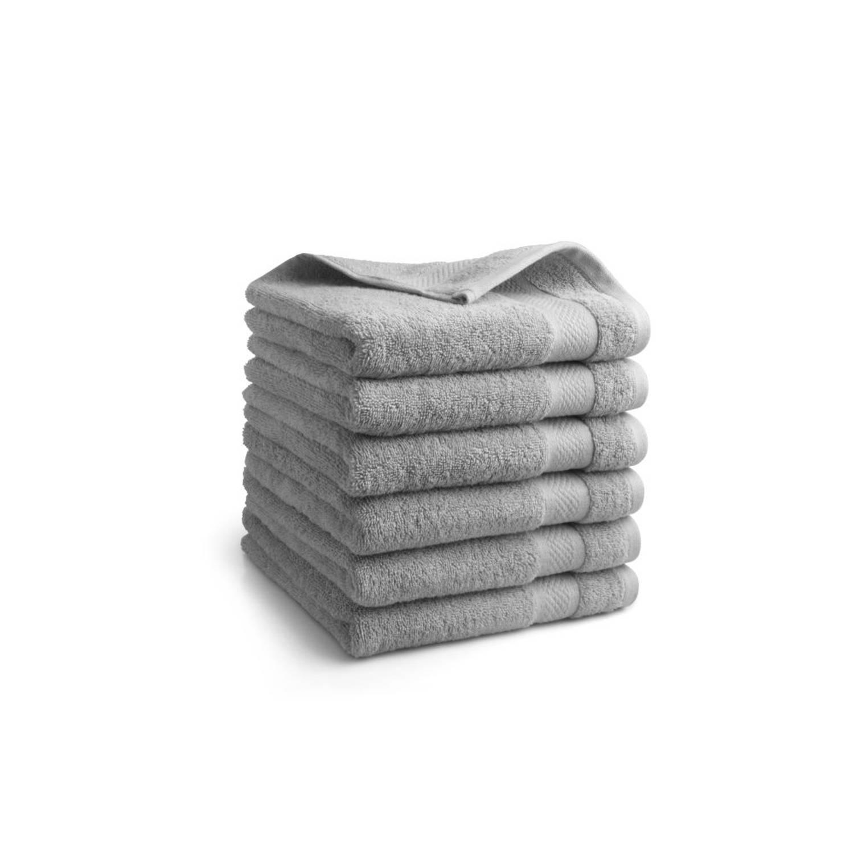 Korting Seashell Clásico Handdoekset Grijs 9 Stuks 50x100cm