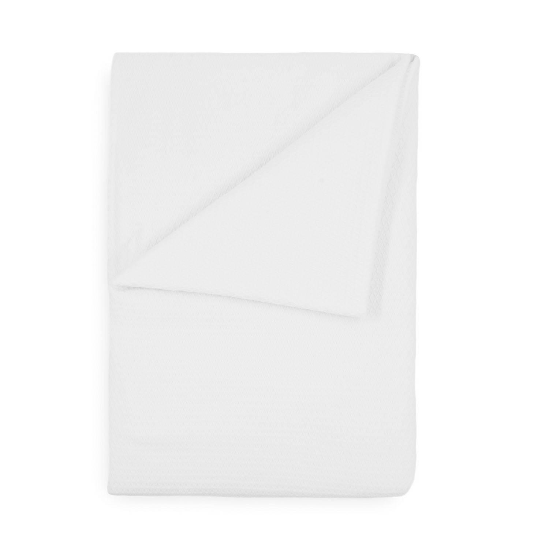 Korting Yellow Wafel Lianne Bedsprei Plaid White 180x260cm