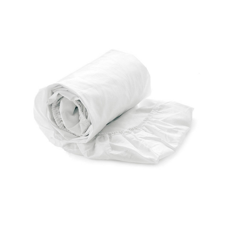 Korting Heckett en Lane Hoeslaken Elementi Katoen Satijn 40cm Hoekhoogte White 90x200cm