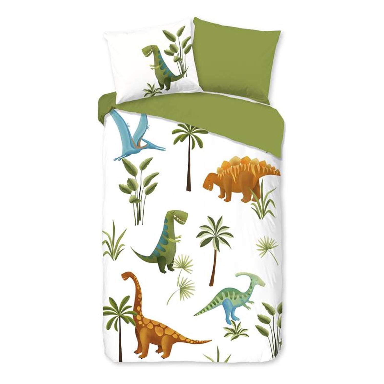 Korting Good Morning Jurassic Park Dekbedovertrek Katoen Peuter (120x150 Cm plus 1 Sloop) Wit