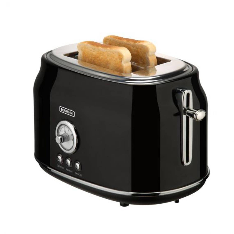 Korting Bourgini Retro Toaster Black