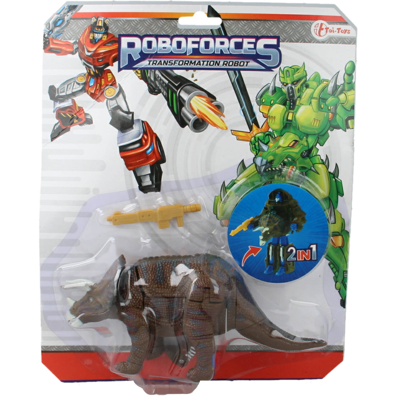 Korting Roboforces Veranderrobot 17cm Dinosaurus Triceratops