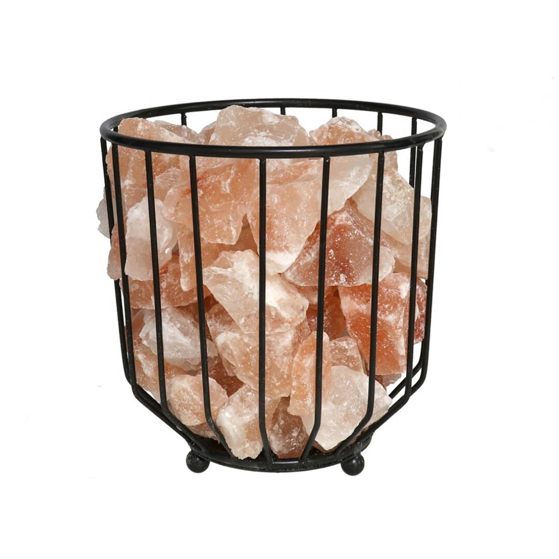 Korting Gebor Leuke Usb Vuurkorf Himalaya Zoutlamp 17x19cm Ontspannings Lamp Ontspanning Rust Positiviteit