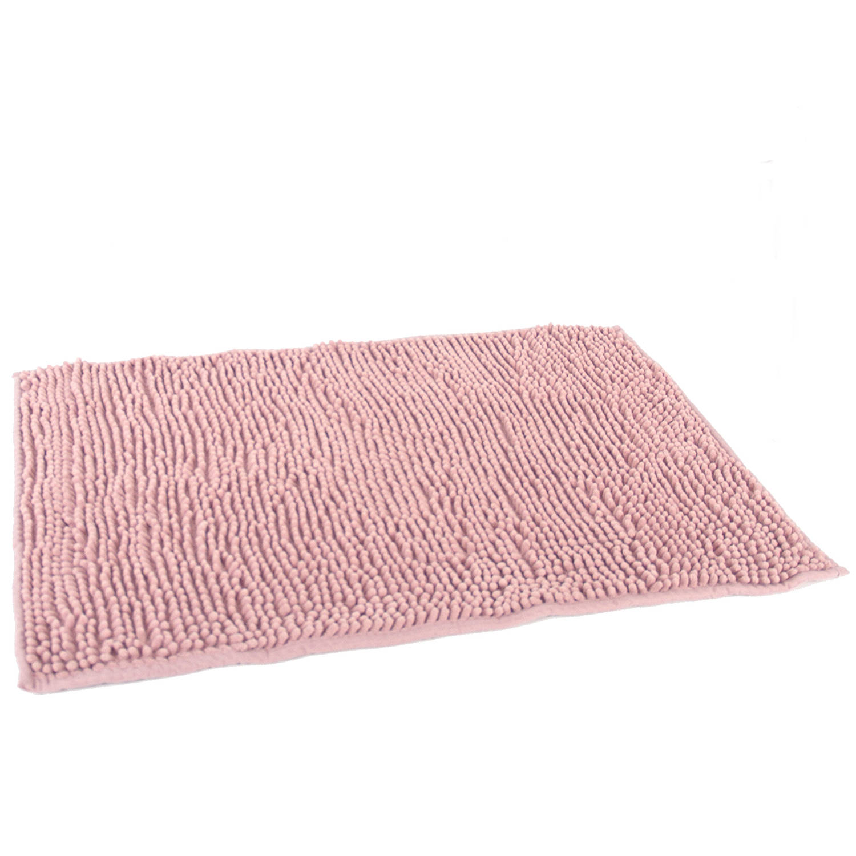 Korting Gebor Anti Slip Badkamermat Micro Vezel Badmat douchemat Roze 45x75cm Antislip Vloerkleed Mat Voor