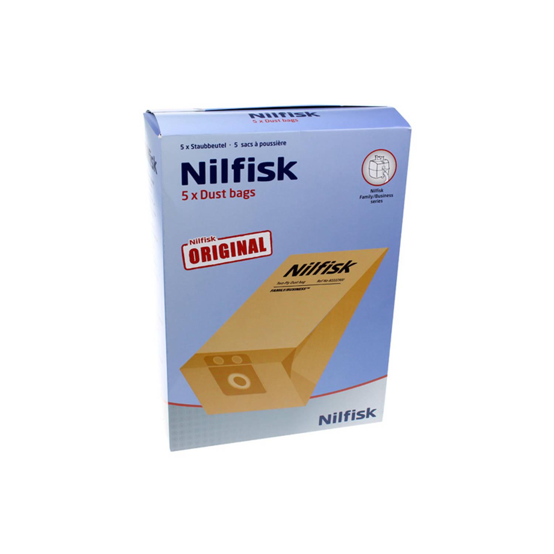 Korting Nilfisk Papieren Stofzakken Business plus (5) Family plus busin 82222900
