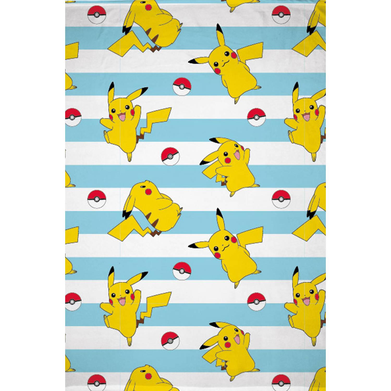 Korting Pokémon Fleecedeken Pikachu 130 X 170 Cm Polyester