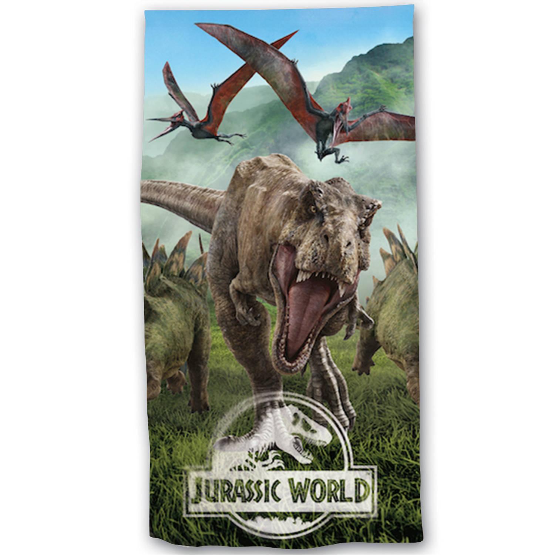 Korting Jurassic World Strandlaken Forest 70 X 140 Cm Katoen